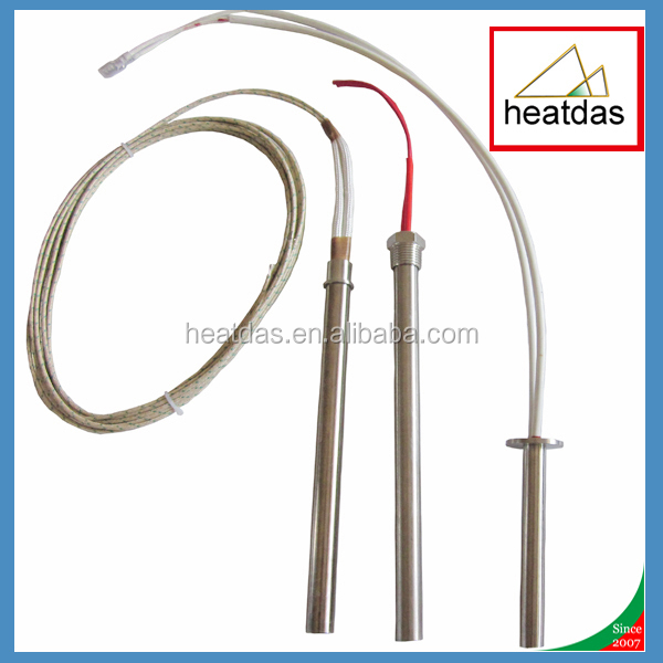 Cartridge heater heating rod with fiber glass wire or pure nickle wire
