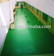 epoxy resin fiber glass laminate floor coating system
