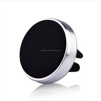 Strong Magnet 360 Rotating Magnetic Cell Mobile Phone Holder Magnetic Car Mount Metal holder Stand smart mobile phone