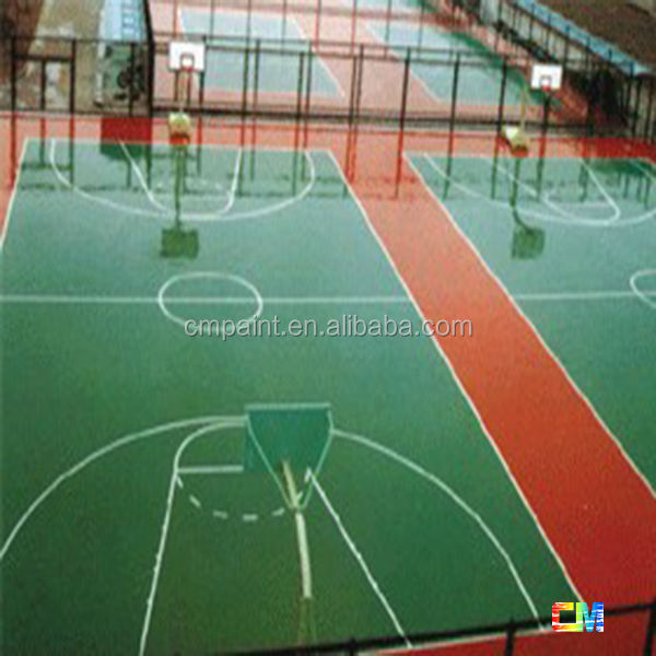 anti slip water base epoxy floor paint sports ground epoxy flooring coating