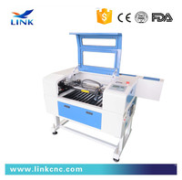 easy operation CO2 laser cutting machines table 600*400 with 80W 100W 130W laser logo printing machine