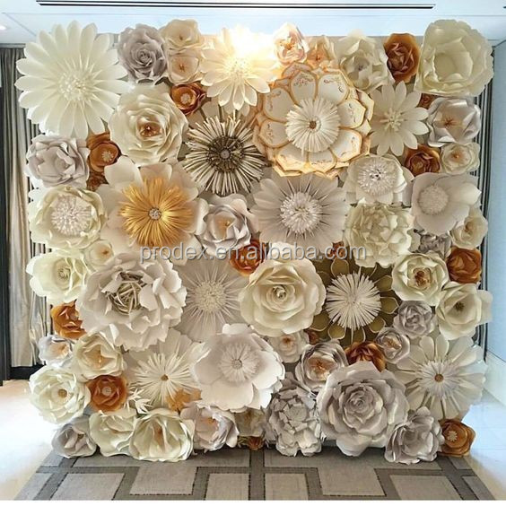Giant paper flowers backdrop