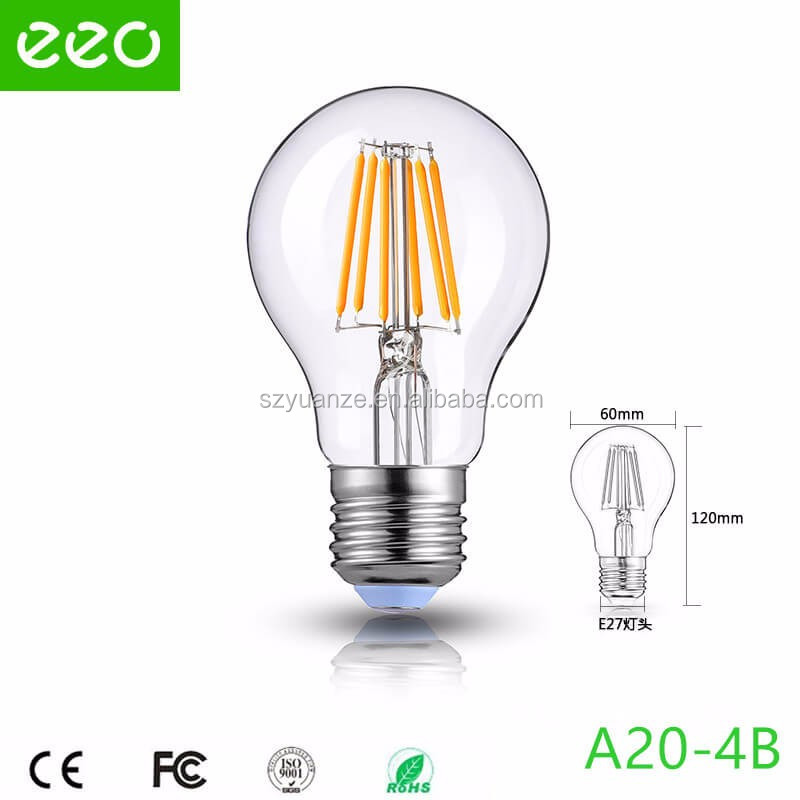 UL CE RoHs Baked white LED filament bulb dimmable 110V 230V G45 2W 2200K 2700K E27 decorative led edison bulbs