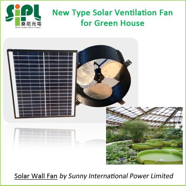 VENT TOOLS SUNNY FAN Solar Panel Powered Window Wall Mount 12 Inch Air Flow Exhaust Fan for Greenhouse Solar Air Extractor Fan