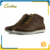 Comfortable lace up brown leather autumn ankle boots for men