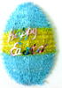 Popular 3D Blue Yellow Egg Shaped