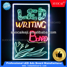 2014 New Fashion Luminous Neon Writing Board Message Home LED Fluorescent Writable Menu Sign Display Board