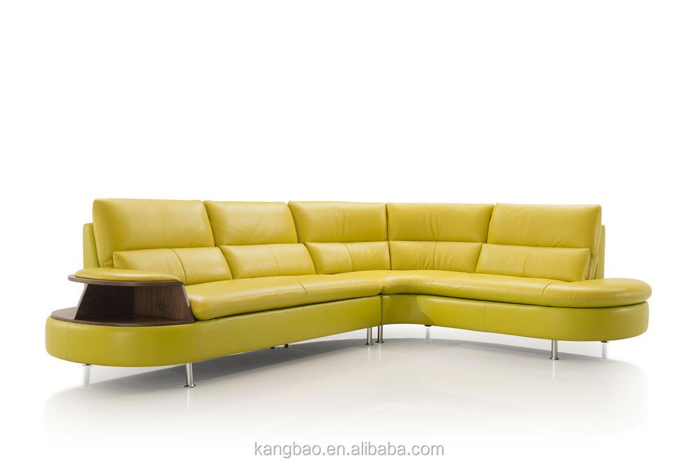 Kangbao Vv Sofa L Shape Yellow Leather Sofa Set Wood And Leathe Sofa Furniture View Sofa