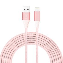Wholesale braided mobile data charger cable zinc alloy usb data cable for iphone usb cable