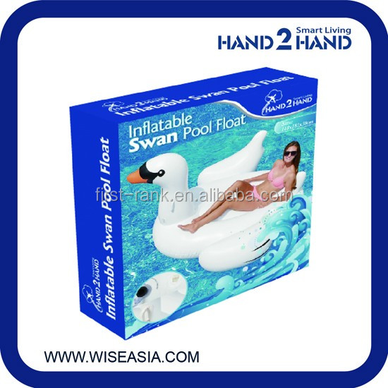 Creative new arrival inflatable swan swimming ring floating for adult