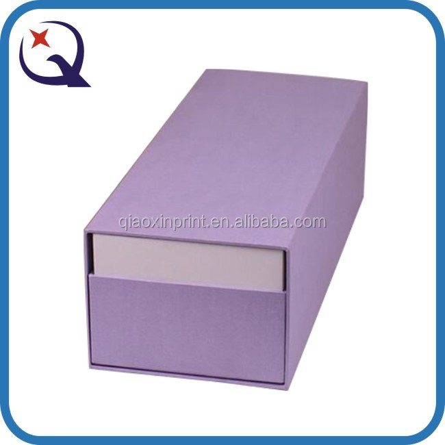 Sliding drawer paper cosmetic product packing entire packaging with a picture