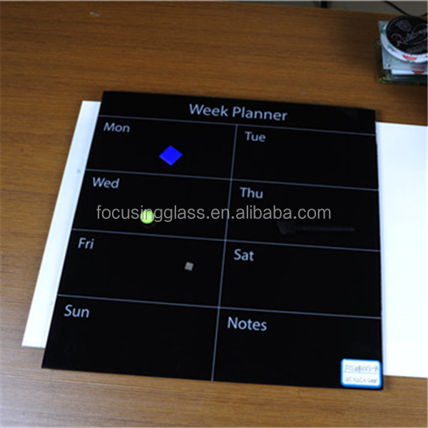 Office supplies tempeed glass writing board with weekly planned