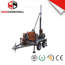 DW150 full hydraulic top head drive water well drilling rig