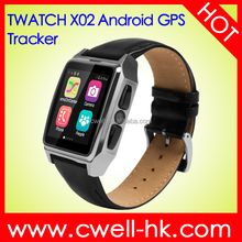 New model TWATCH X02 1.54 Inch IPS Screen GPS Tracker Android hand watch mobile phone