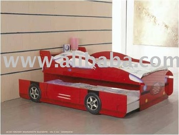 Race Car Bed with roll out sleepover bed