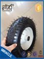 4.00-6 white metal rim pneumatic rubber wheel