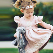 latest girls boutique floral dress one piece lace flutter dress baby princess wear frocks dresses 2018 new style