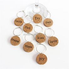 Unique Design metal Wholesale Cork Wine Charms for gift