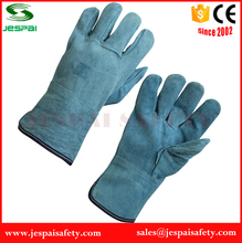 10.5 inch natural color full palm leather welding gloves safety protection