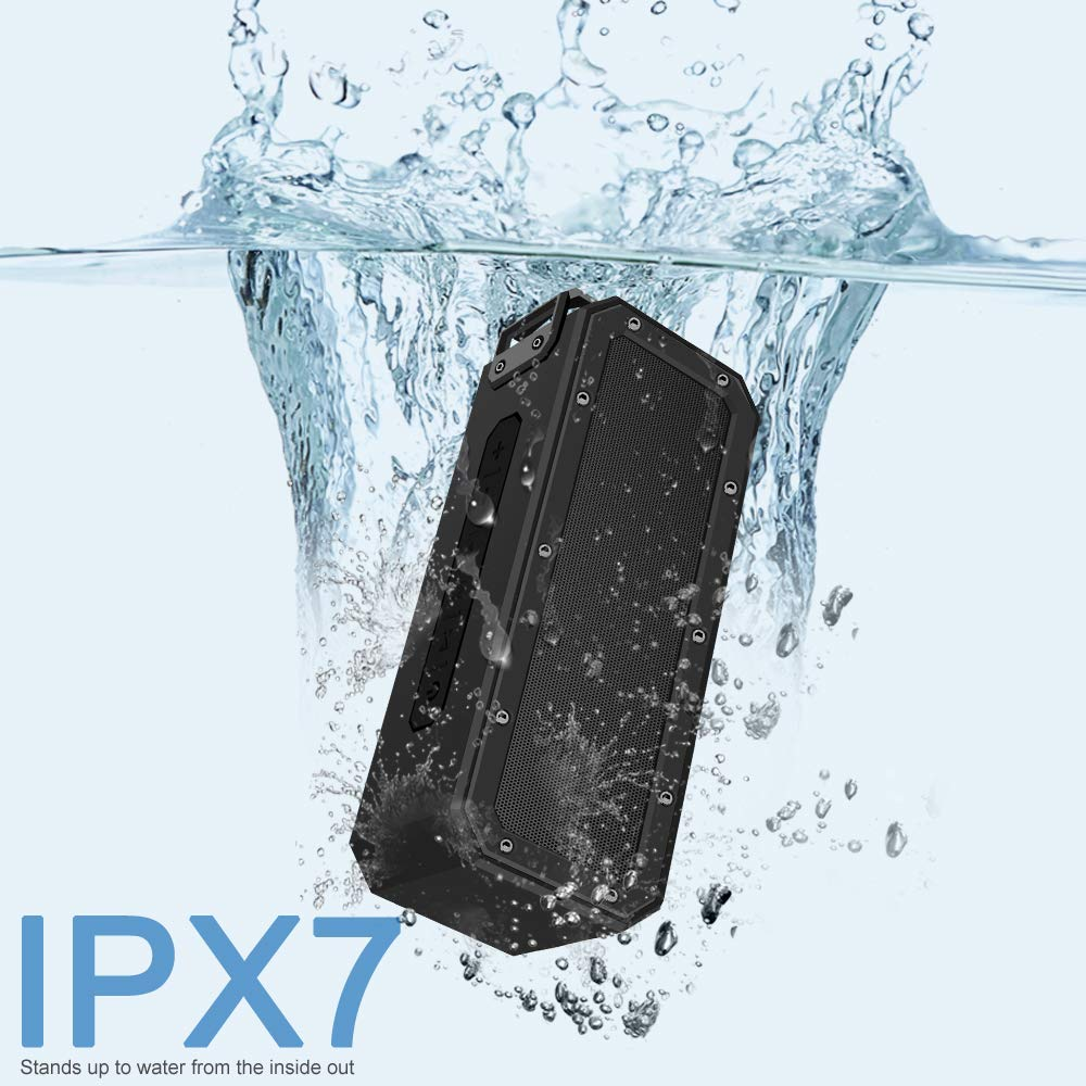 IPX7 Waterproof Dustproof Shockproof Portable TWS 40W powered Speaker