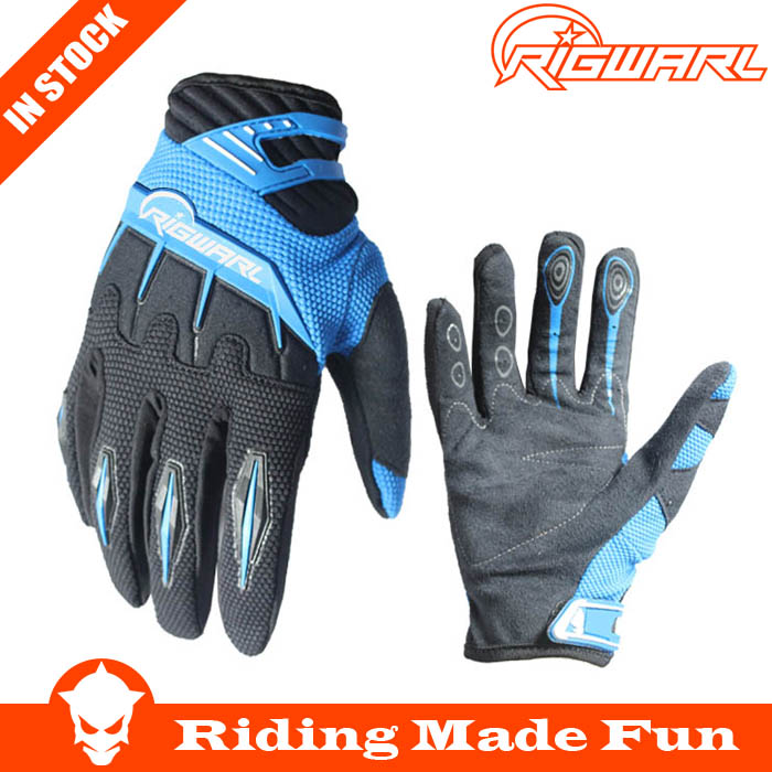 RIGWARL Protective Black Sports Synthenic Leather Motor Bike Racing Gloves For Motorcycle Sports With OEM Service