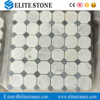 Top quality modern home design natural stone octagon kitchen backsplash tile marble mosaics