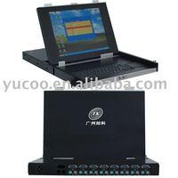USB 8 Ports 15'' LCD KVM Switch
