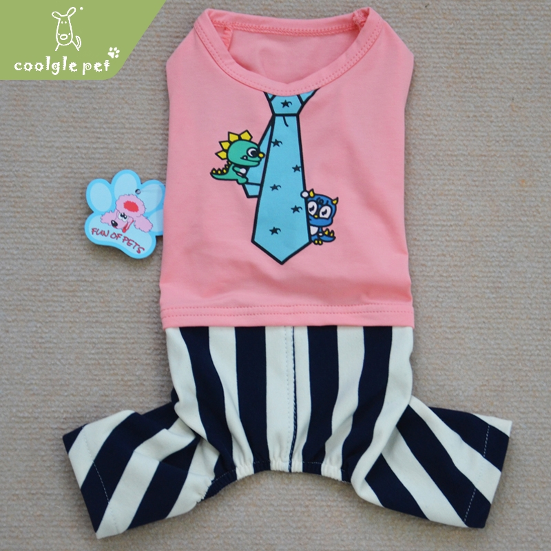 Spandex Tie Clothing With Pants Custom Pet Clothes Sexy Overalls Dog Rabbit Shirt