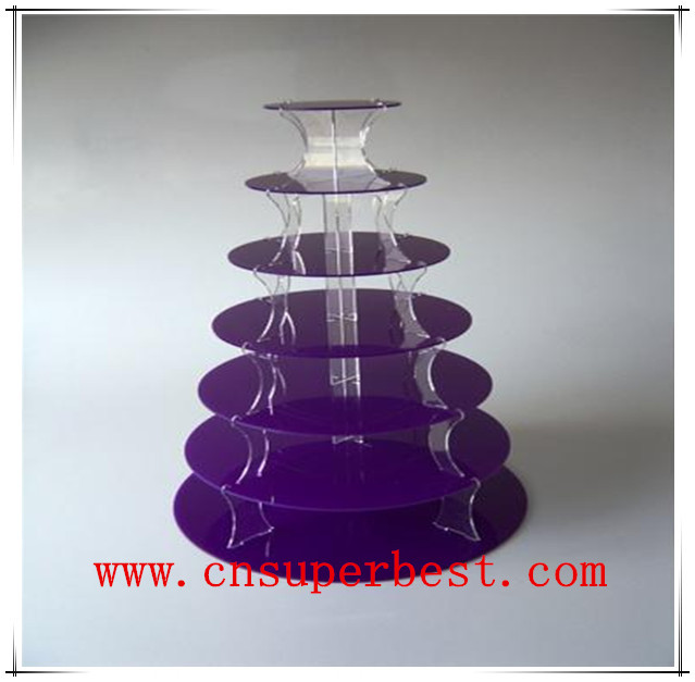 5 tiers clear acrylic cake stand