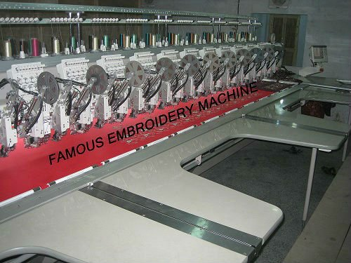 28 Head Multi Head Double Sequence Embroidery Machine