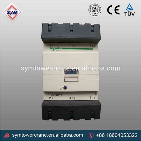 schneider contactor and contactor f115 and contactor 12v coil for tower crane mechine
