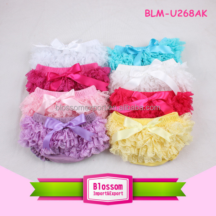 Multifarious baby bloomers chiffon/cotton/lace/satin baby bloomers wholesale