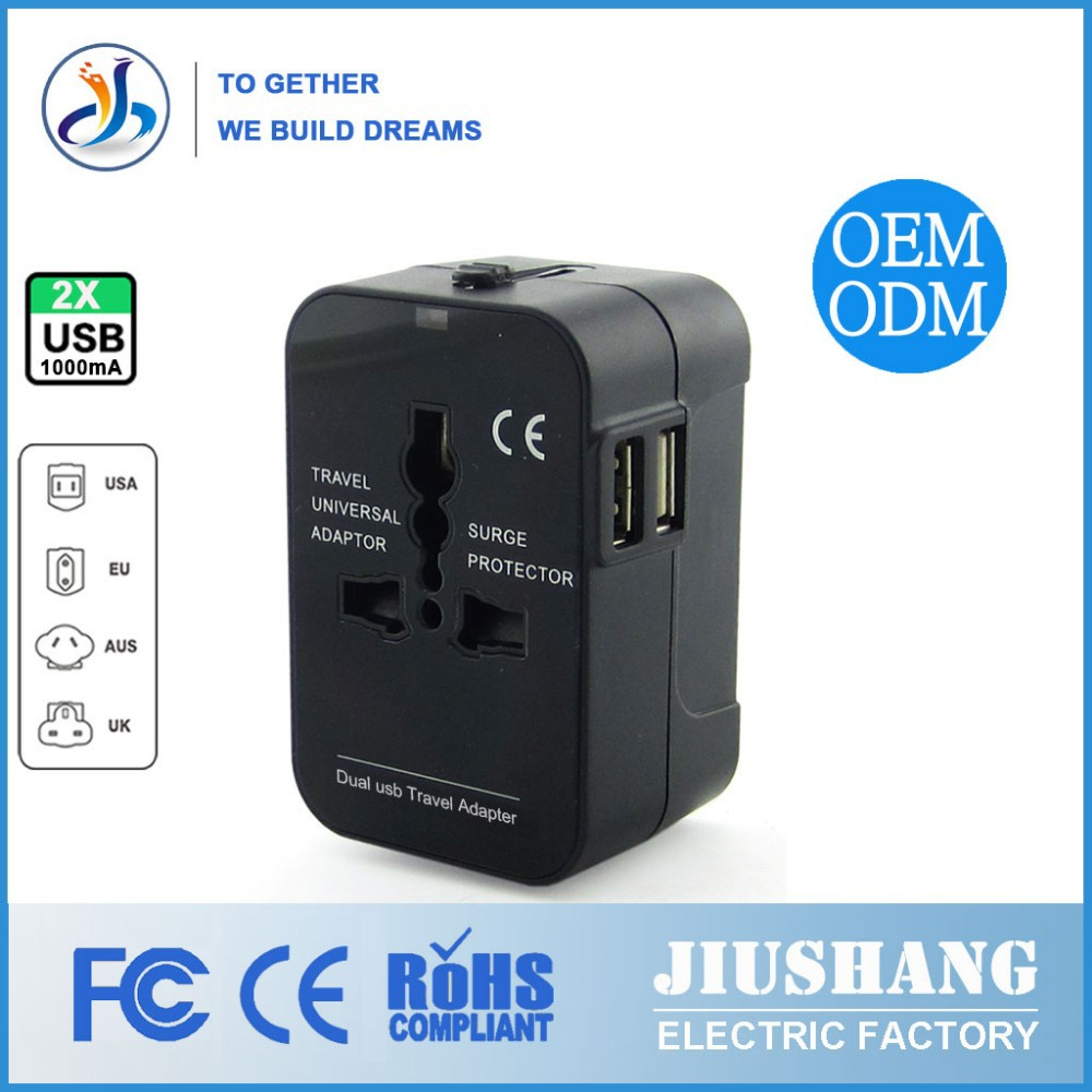 In 2015 sell like hot cakes Universal travel adapter with European/<strong>U</strong>.K plug ,switch and CE FCC approval
