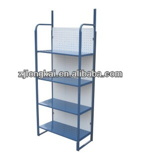 4 tiers floor black supermarket metal display stands for tiles
