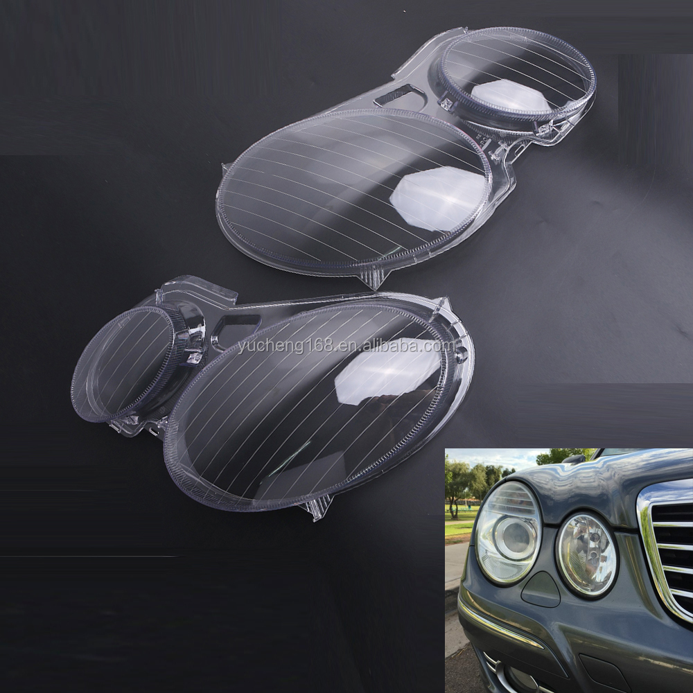 Car Headlamp Headlight glass lens cover For Benzs W211 E350/300/200 02-08