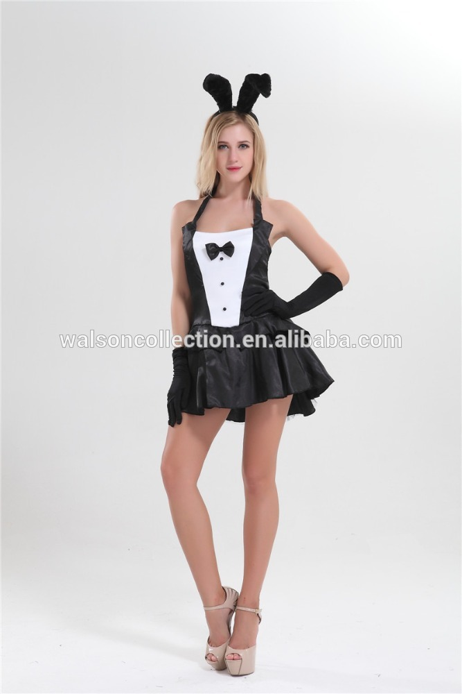 online shopping whosale walson Womens Black Burlesque Bunny Costume