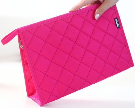standing cosmetic bag ISO certificate quilted makeup cosmetic bag