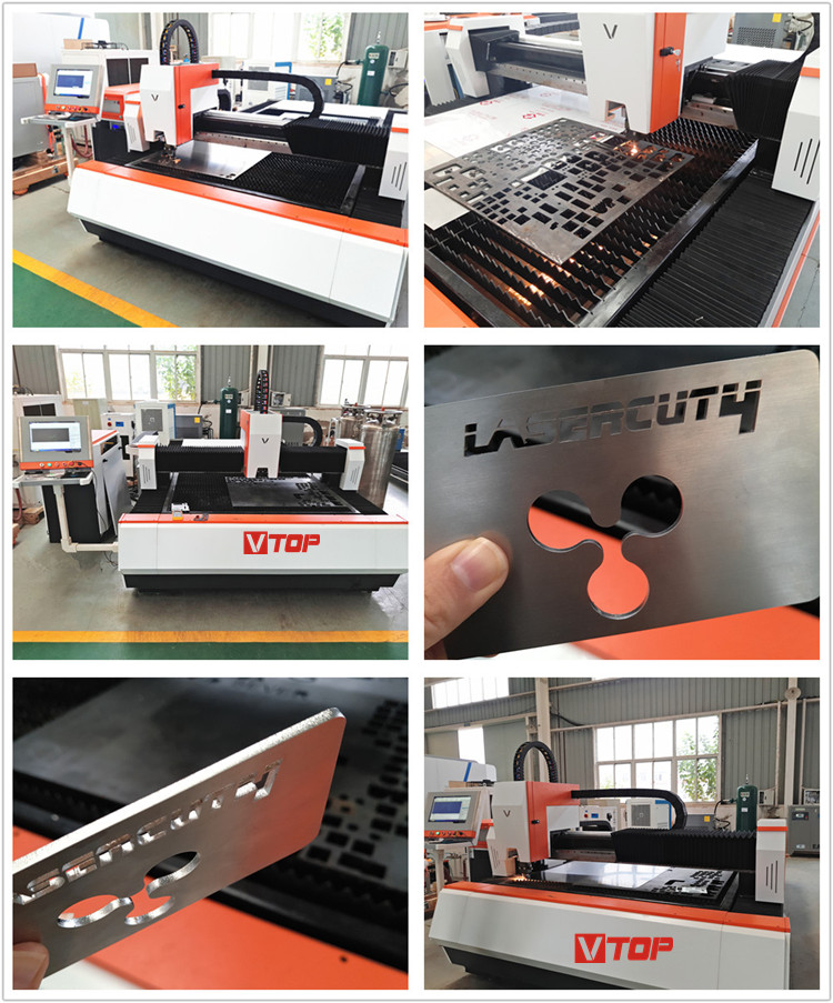 6mm stainless steel fiber laser cutting machine / metal sheet laser cutting machine