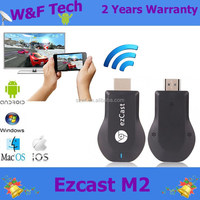High Speed Original Ezcast M2 wifi display miracast android mini dongle stick for smartphone ezcast chromecast