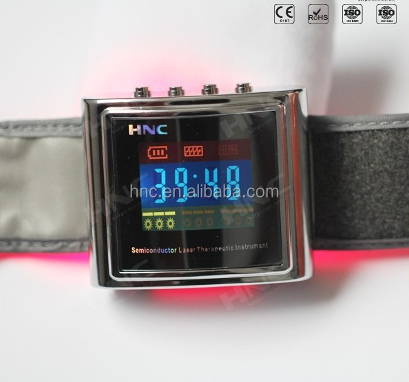 best health gift for family LLLT soft laser wrist 650nm bio laser therapy watch
