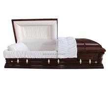 Eco friendly wholesale china direct MDF veneer wood adult cherry casket and coffin