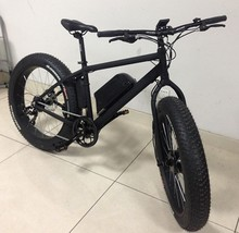 "Aluminum Alloy Frame Mountain Fat Electric Dirt Bike 26"" 24 Speed Double Disc Brake Mtb 500W"