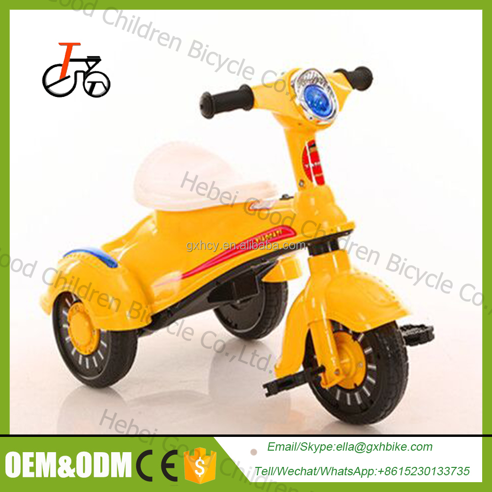 High quality cheap toy kids trike seats/children tricycle /CE certificate baby tricycle with push rod