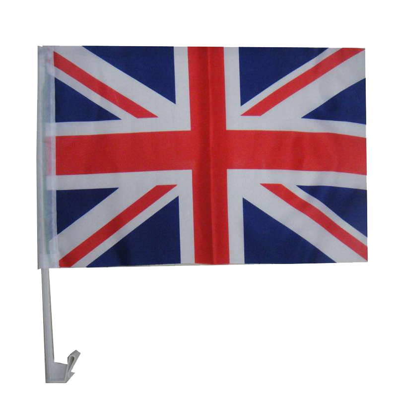 factory polyester uk national car hood cover flag car flag wholesale