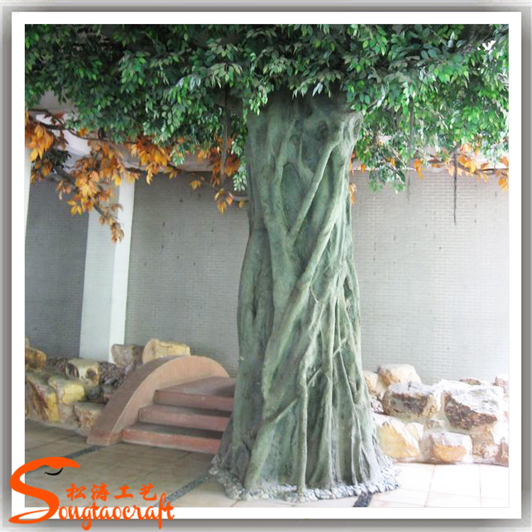 Large fiber glass larger artificial decorative autumn tree for Artificial trees for decoration
