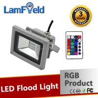 Various Changing Mode 10W LED Outdoor Lighting RGB Flood Light with IR Control