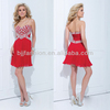 New Arrival Sleeveless Sweetheart Shiny Crystals Stones Fashion Christmas Cocktail Dress
