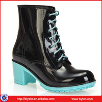 High Quality Transparent PVC Women Clear Rain Boots