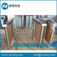 building management system waist height turnstile swing barrier