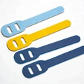 Good tensile colorful silicone rubber zipper puller